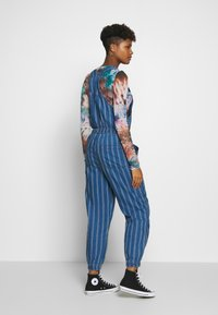 American Eagle - OVERALL SCARY STRIPE - Tuinbroek - blue - 2