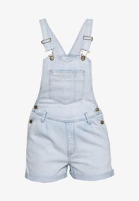 American Eagle - PLEATED MOM SHORTALL - Lacláče - blue daylight - 0
