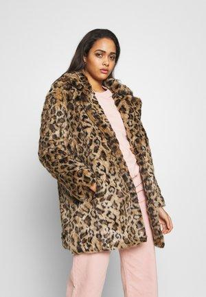 FAUX LEOPARD COAT - Classic coat - beige