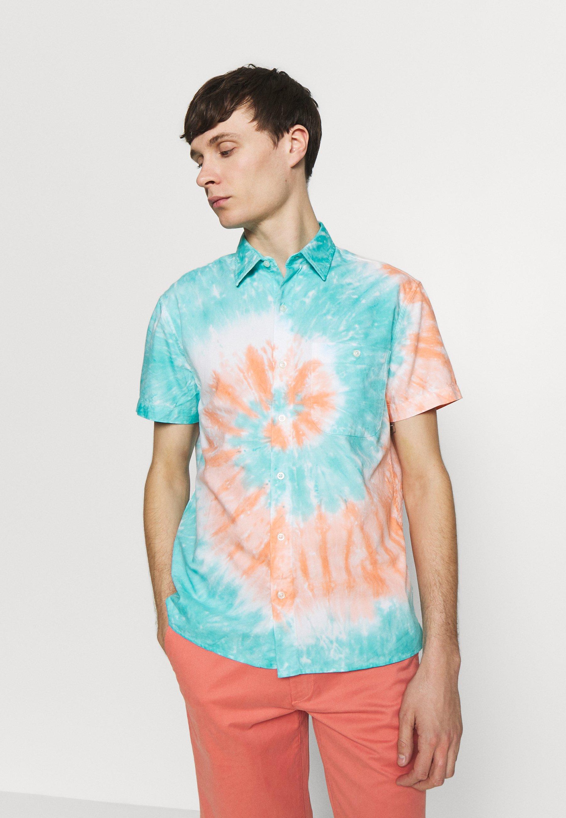 American Eagle Spiral Tie Dye Oxford - Camicia Blue/orange bKDvukp