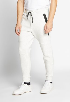 MANCHEGO TAPED  - Tracksuit bottoms - white