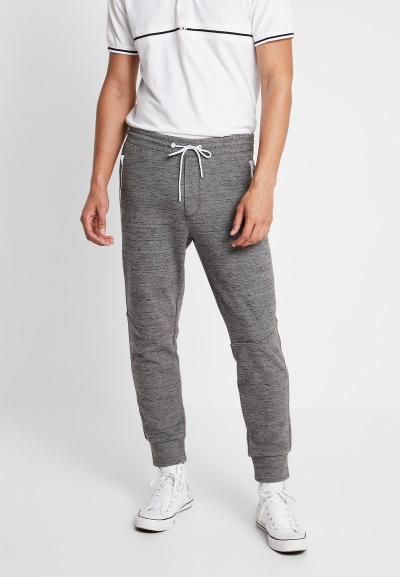 American Eagle - PLAITED CRUZ GRAPHIC  - Joggebukse - heather gray