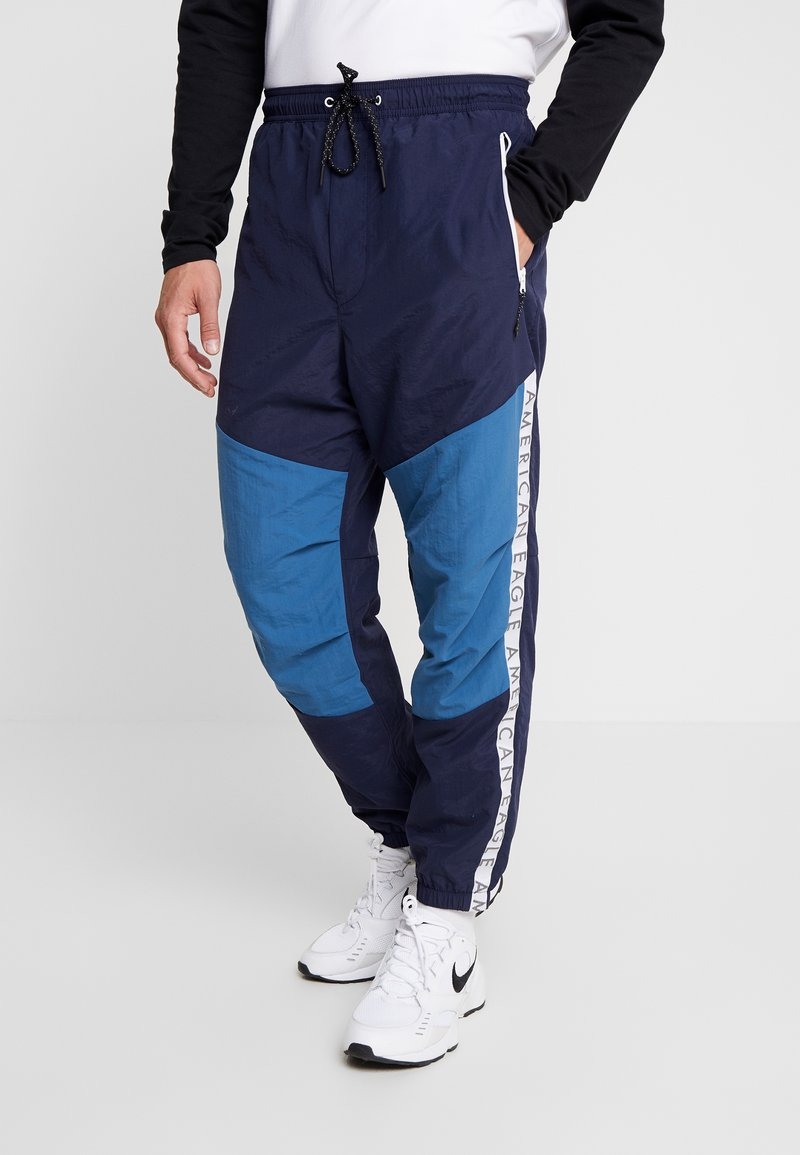 American Eagle - ACTIVE SIDE TAPE - Pantalon de survêtement - navy