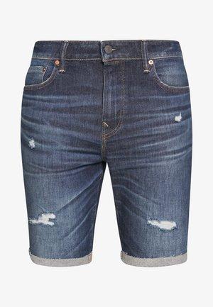 LIGHT DESTROY CUTOFF NO CUFF - Szorty jeansowe - tidal blue