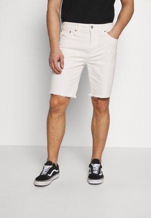 CLEAN INIDGO CUTOFF SHORTS - Szorty jeansowe - air white