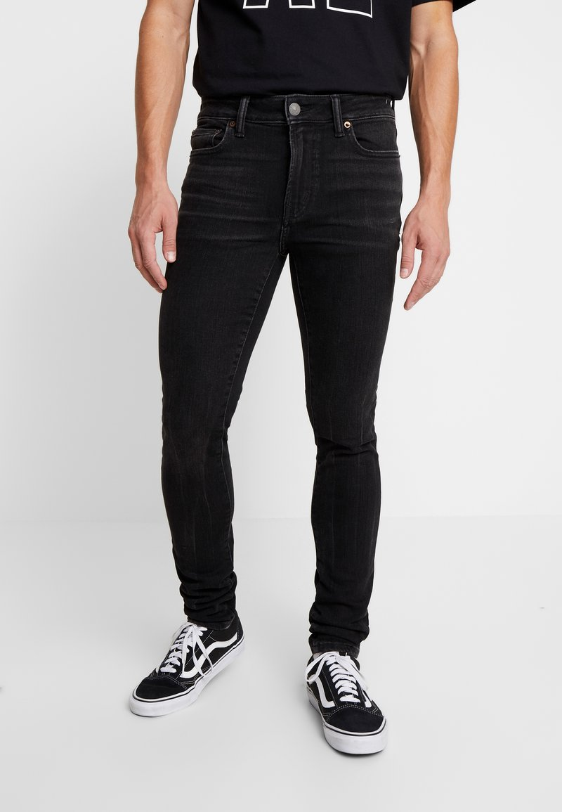 American Eagle - Jeansy Skinny Fit - black