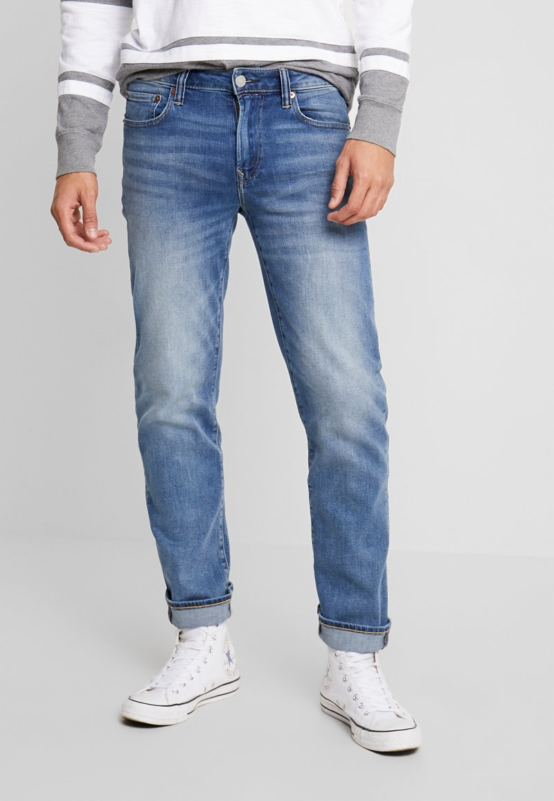 American Eagle - ORIGINAL DARK WASH - Džíny Straight Fit - medium bright indigo
