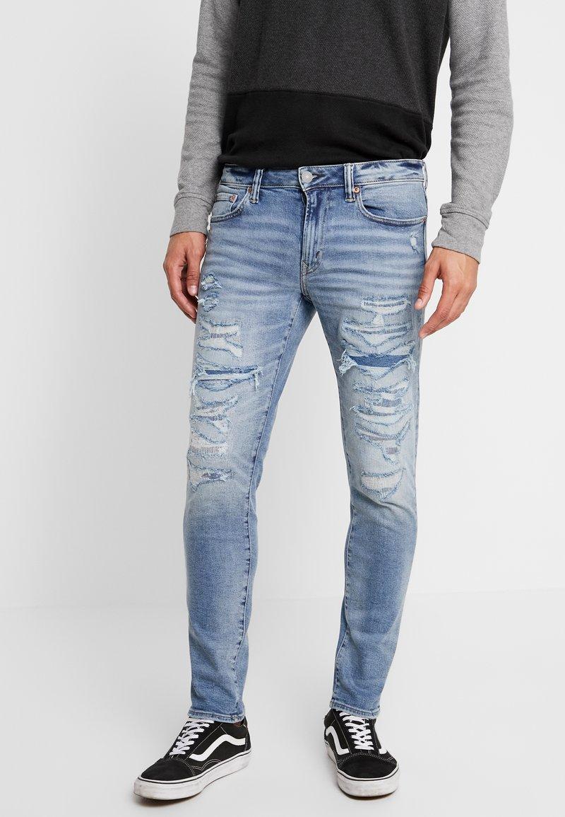 American Eagle - DESTROY MENDED - Jeans Slim Fit - med wash