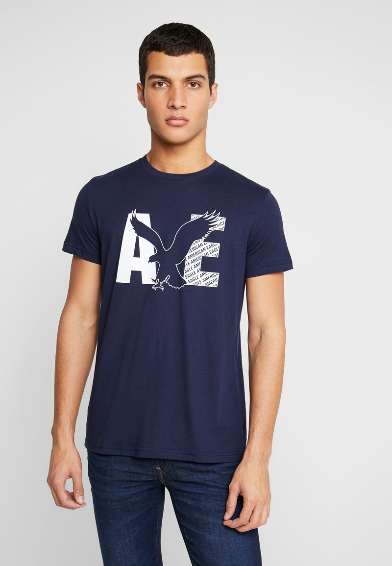 American Eagle - AUGUST VALUE - T-shirt con stampa - navy