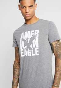 American Eagle - AUGUST VALUE - T-shirts med print - gray - 4