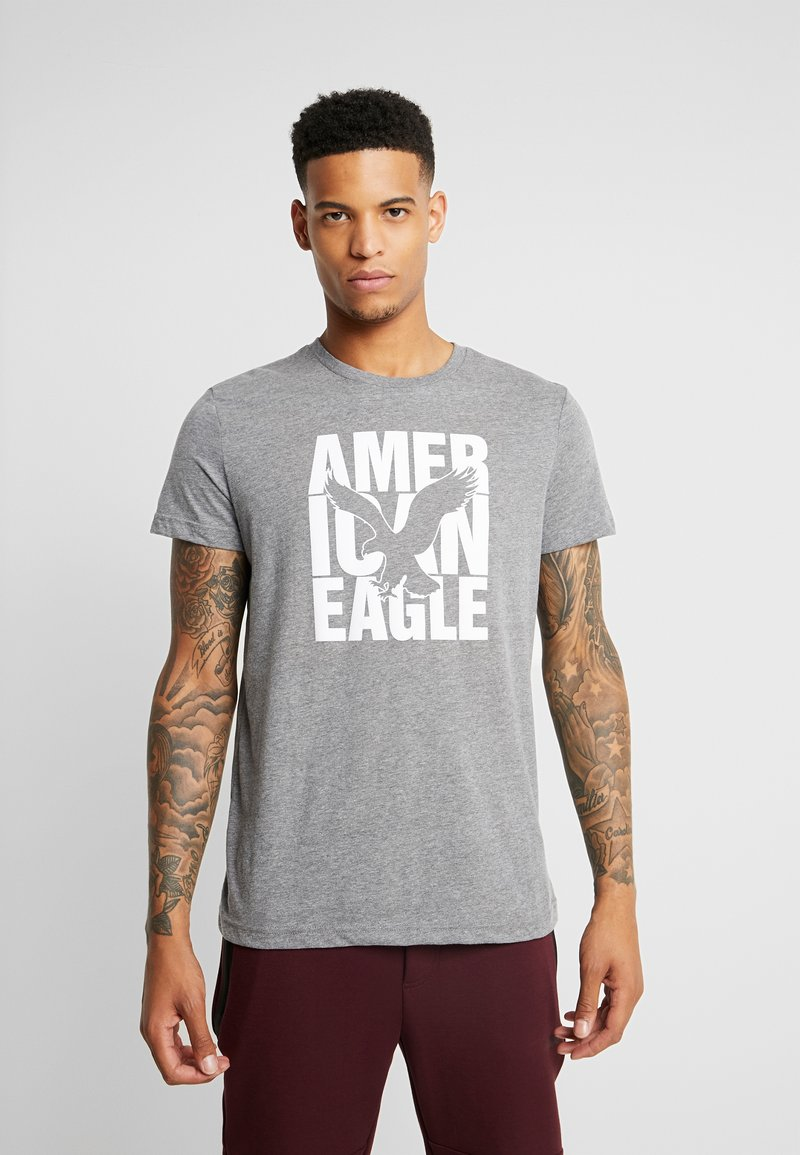 American Eagle - AUGUST VALUE - T-shirts med print - gray