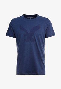 American Eagle - BITESTITCHING CLASSIC FIT - Print T-shirt - navy - 3