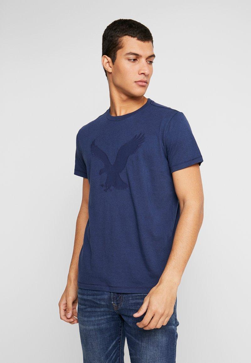 American Eagle - BITESTITCHING CLASSIC FIT - Print T-shirt - navy