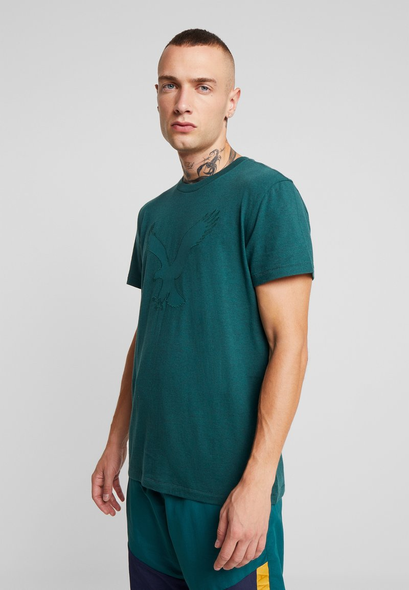 American Eagle - BITESTITCHING CLASSIC FIT - T-shirt con stampa - green