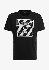 American Eagle - SET IN TEE BOUND NECK - T-shirt con stampa - bold black - 3