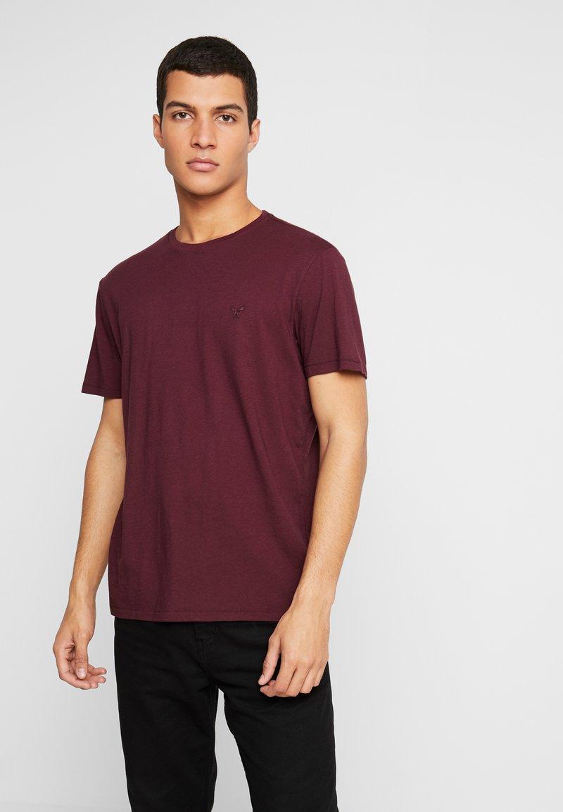 American Eagle - SLUB CREW NECK - T-Shirt basic - burgundy