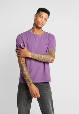 SLUB CREW NECK - Camiseta básica - purple
