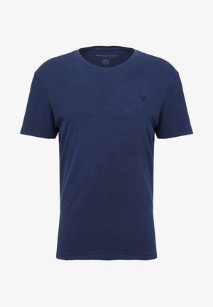 SLUB CREW NECK - Basic T-shirt - navy