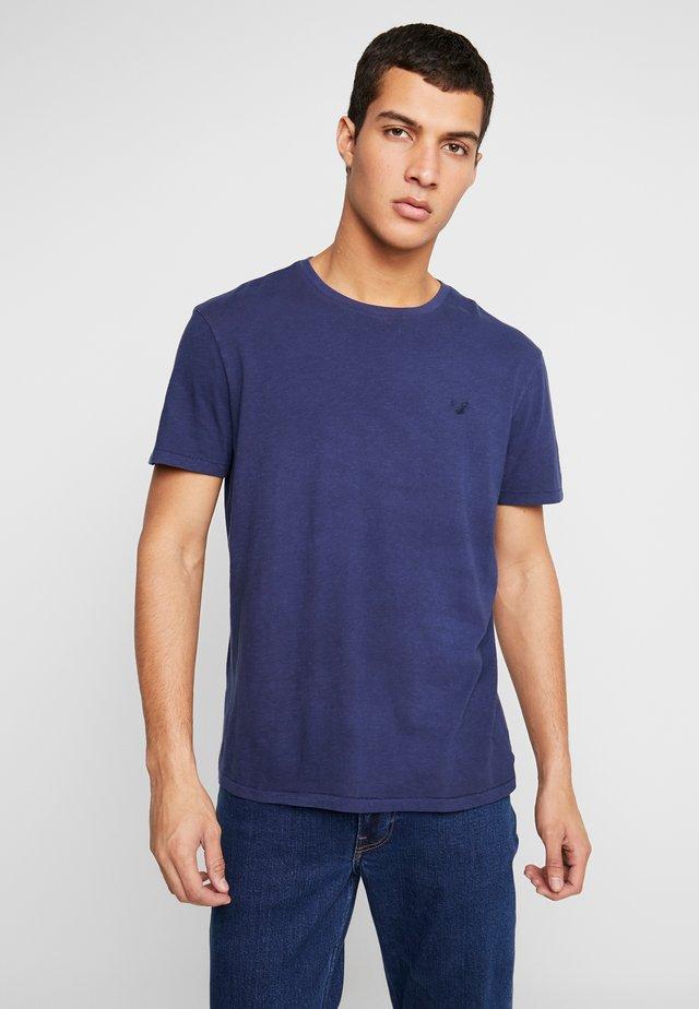 SLUB CREW NECK - T-Shirt basic - navy