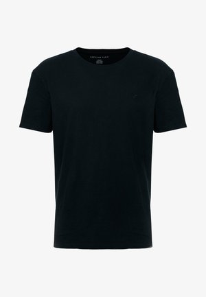 SLUB CREW NECK - Basic T-shirt - black