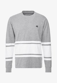 American Eagle - MOCK NECK PANEL - T-shirt à manches longues - medium grey heather/new white - 3