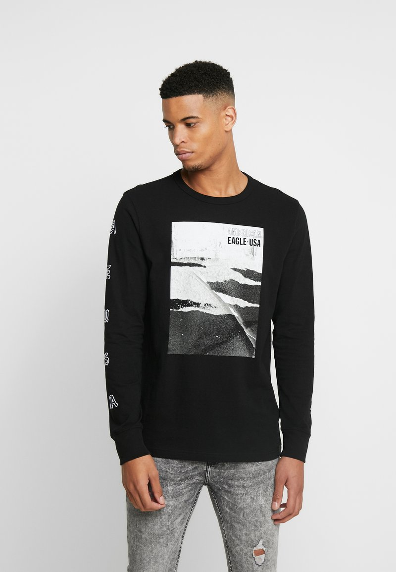 American Eagle - OLD ENGLISH - Long sleeved top - black