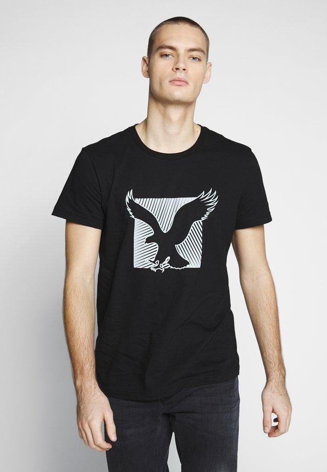SET IN TEE - Print T-shirt - bold black