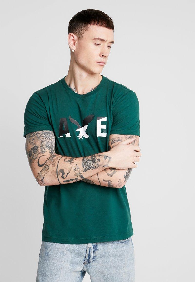 American Eagle - SET IN TEE  - T-shirt imprimé - batalia green