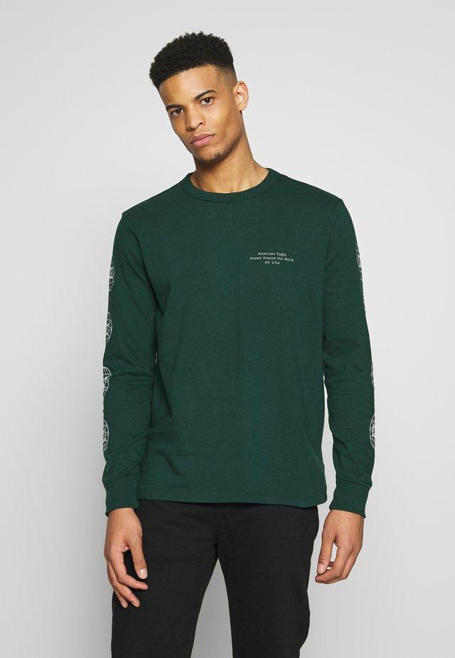 BOUND NECK TEE - Langærmede T-shirts - green