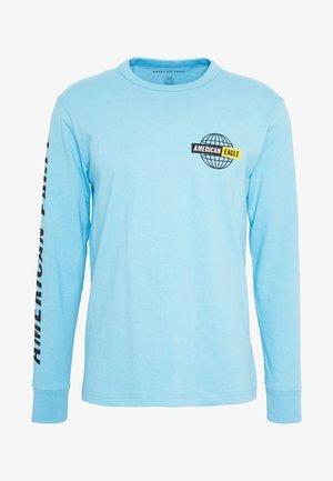 BOUND NECK TEE - Top sdlouhým rukávem - light blue