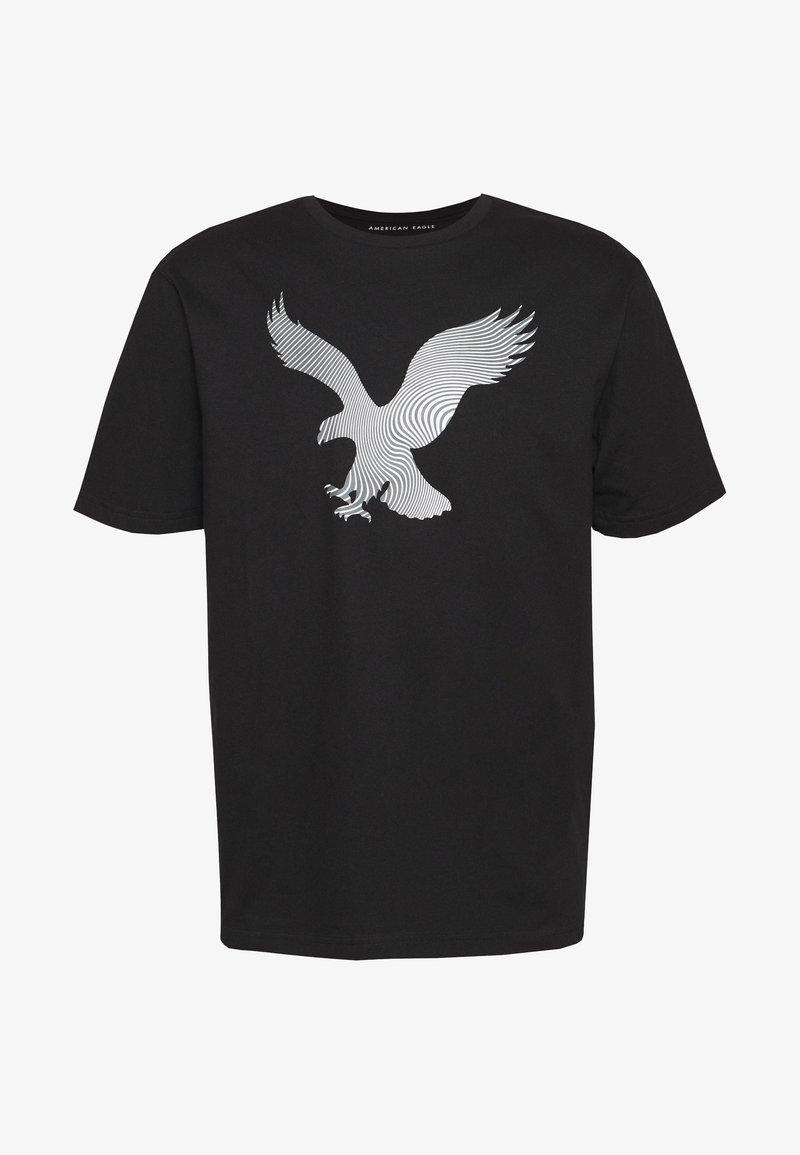 American Eagle - TEE BRAND - Triko spotiskem - black