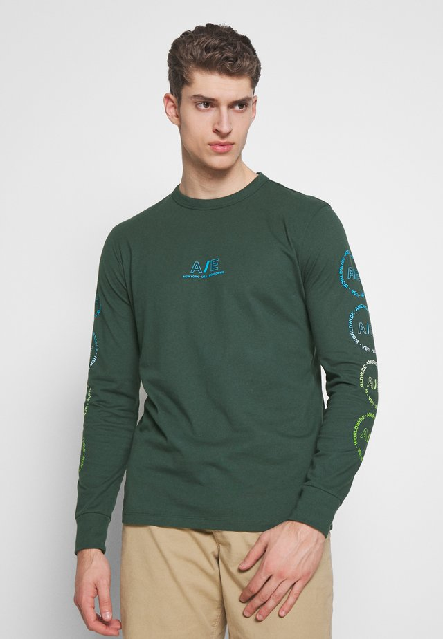 BOUND NECK TEE - Long sleeved top - green