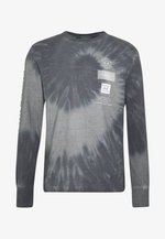 BOUND NECK TEE - Long sleeved top - gray