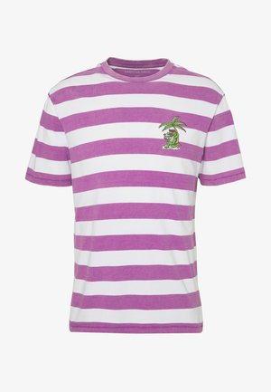 PRINTED CHEST STRIPE - T-shirt print - purple