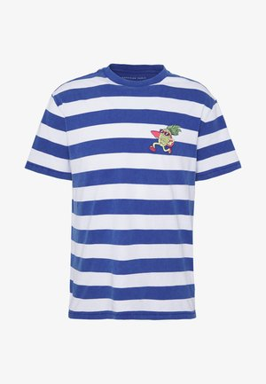 PRINTED CHEST STRIPE - T-shirt con stampa - blue