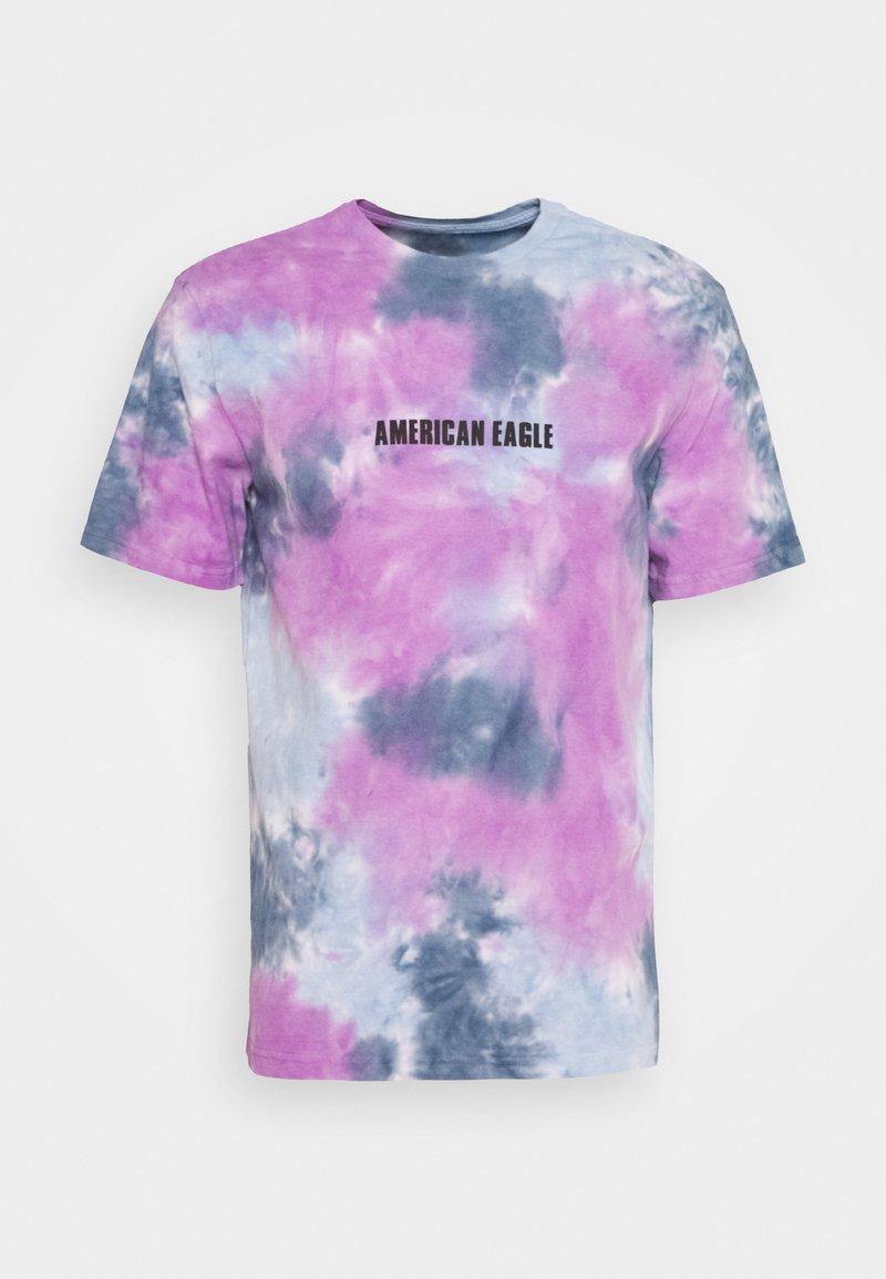 American Eagle - UNISEX SET IN TEE TIE DYE - Print T-shirt - blue mist