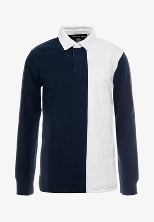RUGBY VERTICAL PANEL BLOCKED - Poloshirts - hurricane blue/new white