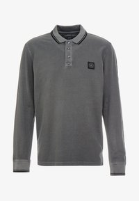 American Eagle - TIPPED  WITH GRAPHIC - Polo - dark grey - 4