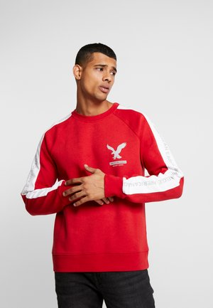BRANDED CREW - Sweater - red heather/new white