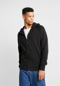 American Eagle - ZIP THRU HOODED - veste en sweat zippée - black - 0
