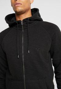 American Eagle - ZIP THRU HOODED - veste en sweat zippée - black - 4
