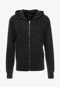 American Eagle - ZIP THRU HOODED - veste en sweat zippée - black - 3