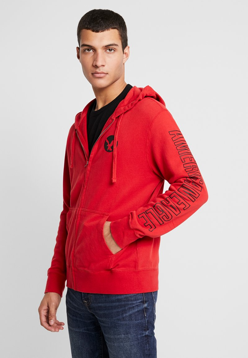 American Eagle - ICON HOODIE - Zip-up hoodie - athletic red