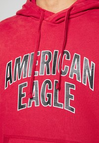 American Eagle - ICON POPOVER HOODIE - Hoodie - bright red - 5