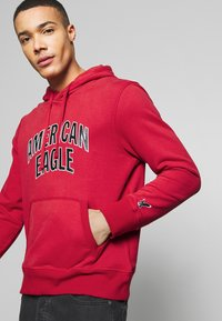 American Eagle - ICON POPOVER HOODIE - Hoodie - bright red - 3