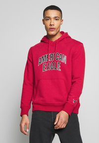 American Eagle - ICON POPOVER HOODIE - Hoodie - bright red - 0