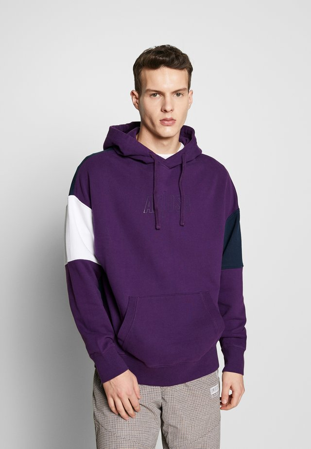PIECED POPOVER HOODIE - Hoodie - purple