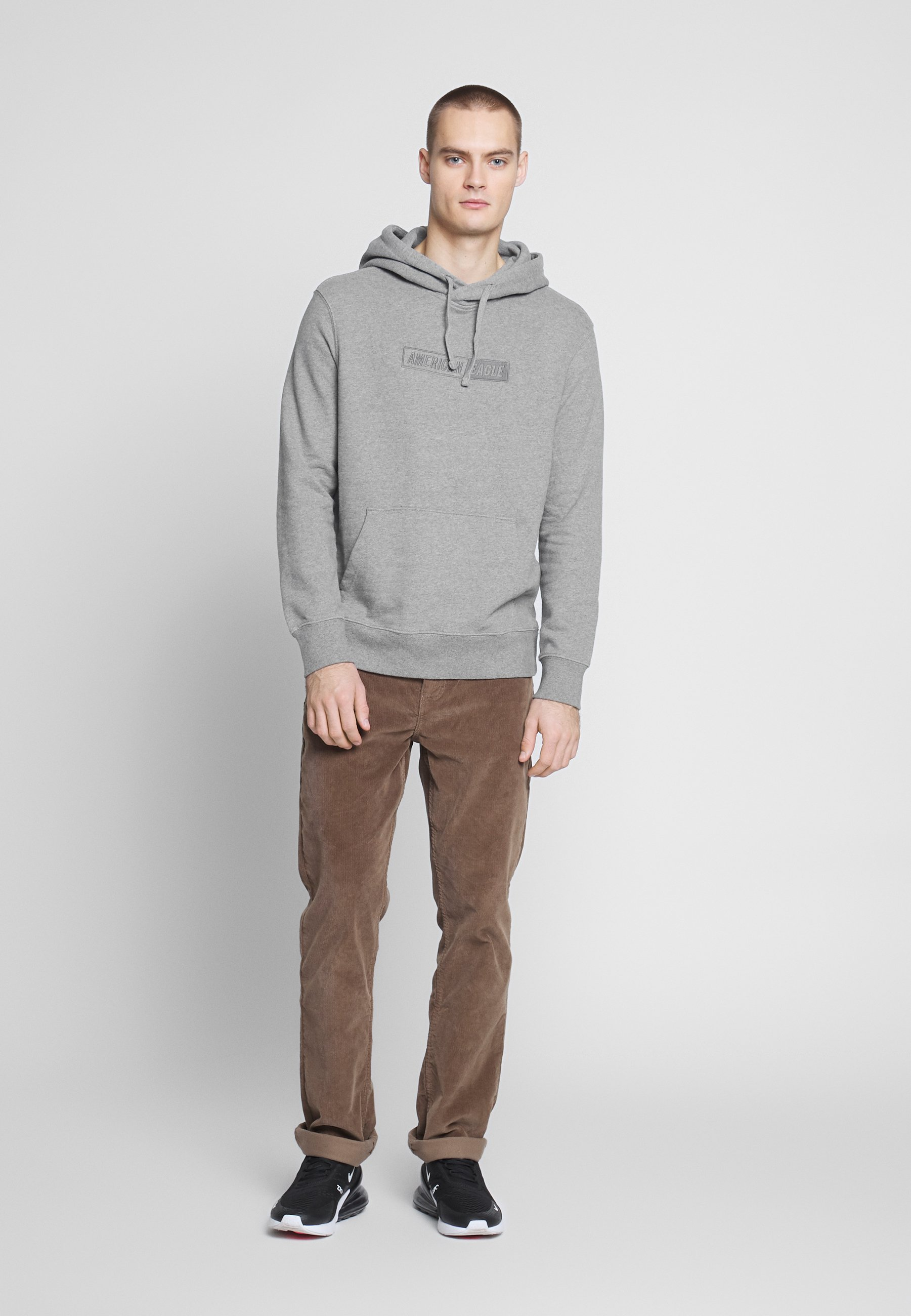 American Eagle Graphic Popover - Hoodie Heather Gray