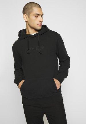 GRAPHIC POPOVER - Bluza z kapturem - black