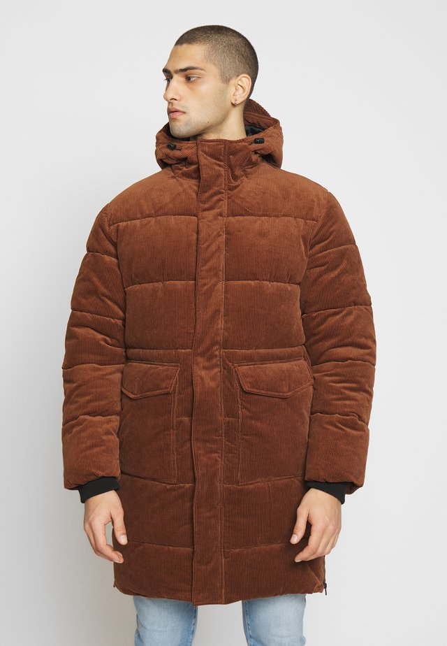 LONG PUFFER PARKA - Wintermantel - toasted almond